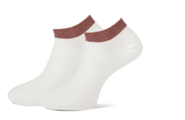Marcmarcs Dames Sneakersokje | 2-Pack | Moscow Off White Chestnut