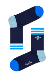 Happy Socks Athletic Embrodery UFO 3/4 Crew Sock
