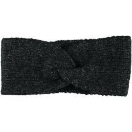 Sarlini   Knitted Gebreide Haarband Clara   Black Melange