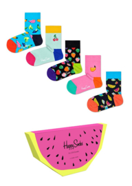 Happy Socks 5-Pack Gift box Fruits | 12-24 mnd, Maat 22/24