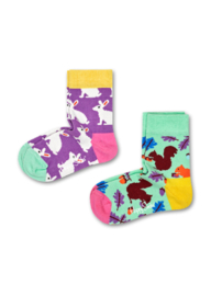 Happy Socks Kids 2-pack  Bunny & Squirrel