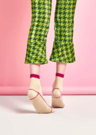 Happy Socks Hysteria Lily Rib Ankle Sock, Maat 36-41