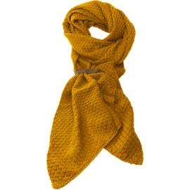 LOT83 | Bo | Lange knitted Gebreide Sjaal | Okergeel