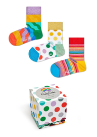Happy Socks Kids 3-Pack Gift box Pride | 12-24 maanden, maat 22/24