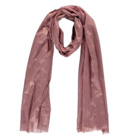 Sarlini lange Dames sjaal met subtiele gouden glanslook   Antique Pink