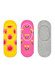 Happy Socks 3-Pack Liner | Sneaker Socks Smiling Face