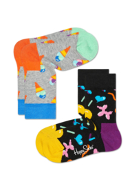 Happy Socks Kids 2-pack Icecream Sokken