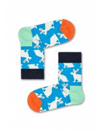 Happy Socks Kids Bunny Blauw