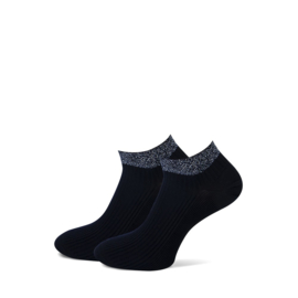 Marcmarcs Dames Low Sneakersokje   2-Pack   Moscow Zwart Zilver