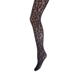 Marianne panty Leopard art.30036 Zwart