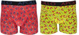 Apollo   Heren boxershorts   2-Pack Giftbox   Tools Red
