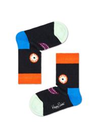 Happy Socks Kids Scary Face Sock Zwart