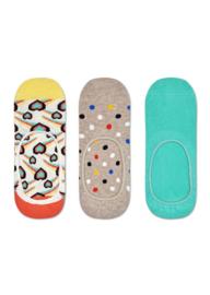Happy Socks 3-Pack Liner   Sneaker Socks Shooting Hearts
