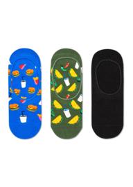 Happy Socks 3-Pack Liner | Sneaker Socks Hamburger