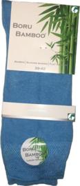 Boru Bamboo Sok | 2-Pack | Azuur Blauw