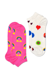 Happy Socks 2-Pack Low | Sneaker Socks Happy Rainbow