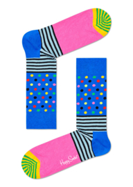 Happy Socks Stripes and Dots Sock Blauw