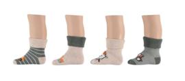 Apollo Baby Terry Socks Bouwer Groen/Ecru | 4 Paar