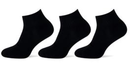 Teckel Low Sneaker sokken Zwart | Badstof Zooltje | 3-Pack