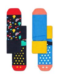 Happy Socks 2-Pack Antislip, Fruit Salad,  12-24 maanden, Maat 22-24