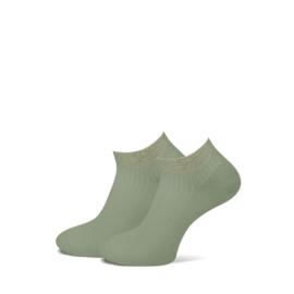 Marcmarcs Dames Sneakersokje   2-Pack   Moscow Khaki Army Green