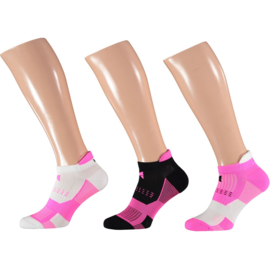 X-treme Fitness Sokken   Multi Pink   3-PACK