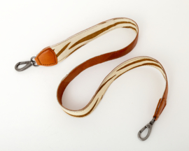 Bag2Bag Verwisselbare schouderband Zebra Cognac 130cm