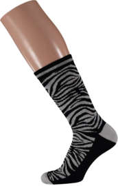 Sarlini Fashion Dames sokje Zebra Zwart | Maat 36-41