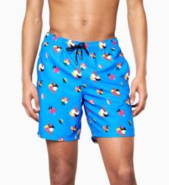 Happy Socks Hibiscus Long Swim Shorts