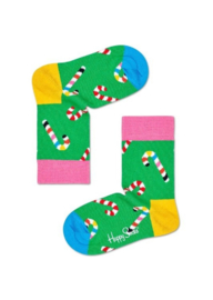 Happy Socks Kids Christmas Candy Cane Socks