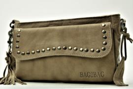 Bag2Bag Schoudertas | Grote Clutch Utah Grey/Brownisch
