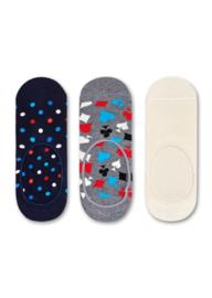 Happy Socks Liner Socks Dot 3-Pack