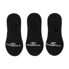 O'Neill Footies No Show Sneaker Sokken | 6-Pack Zwart, 710003