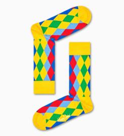 Happy Socks Carnaval Editie Rainbow Diamond Socks