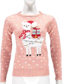 Sarlini Dames Kerst Trui  | Apalca Roze