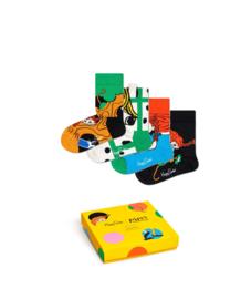 Happy Socks Pippi Langkous Kids 4-Pack Giftbox