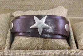 Ster armband overlap bruin