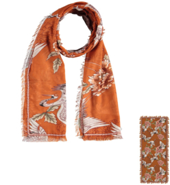 Sarlini Dames sjaal Cranebird Brique
