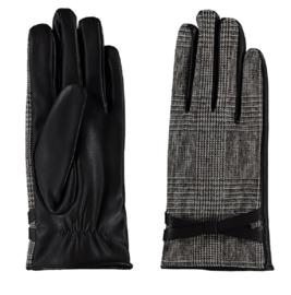 Sarlini fijn gebreide bruine Dames handschoen met riempje