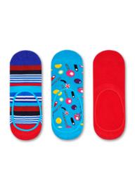 Happy Socks Liner Socks Multi Stripe & Candy 3-Pack