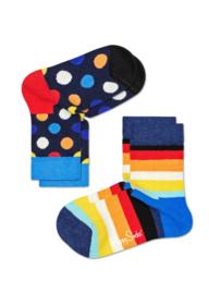 Happy Socks Kids 2-pack Big Dot Sokken