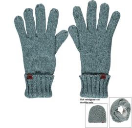 Sarlini knitted Dames handschoen IJsblauw