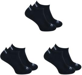 O'Neill Lage Sneaker Sokken | 6-Pack Zwart, 730003