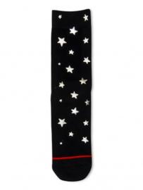 XPooos Socks, kerstsokken, Xmas Silver Starts 70052
