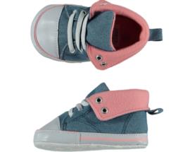 Baby Sneakerschoentjes | Jeansblauw Roze
