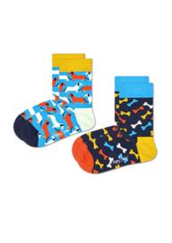 Happy Socks Kids 2-Pack Dog Socks