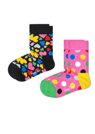Happy Socks Kids 2-Pack Heart Socks