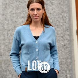 LOT83 | Fijn gebreid Cardigan Vest | Amy Light Blue