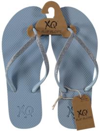 Flip flops Dames | Teenslippers Lichtblauw met glitters