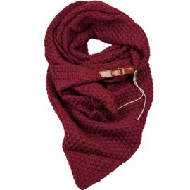 LOT 83 | Gebreide Knitten Royale omslagdoek | wintersjaal Lot, Wijnrood